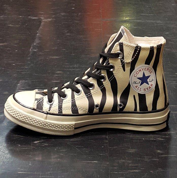 Converse Chuck Taylor All Star 斑馬 米白色 黑色 復刻 黑標 1970s 142279C