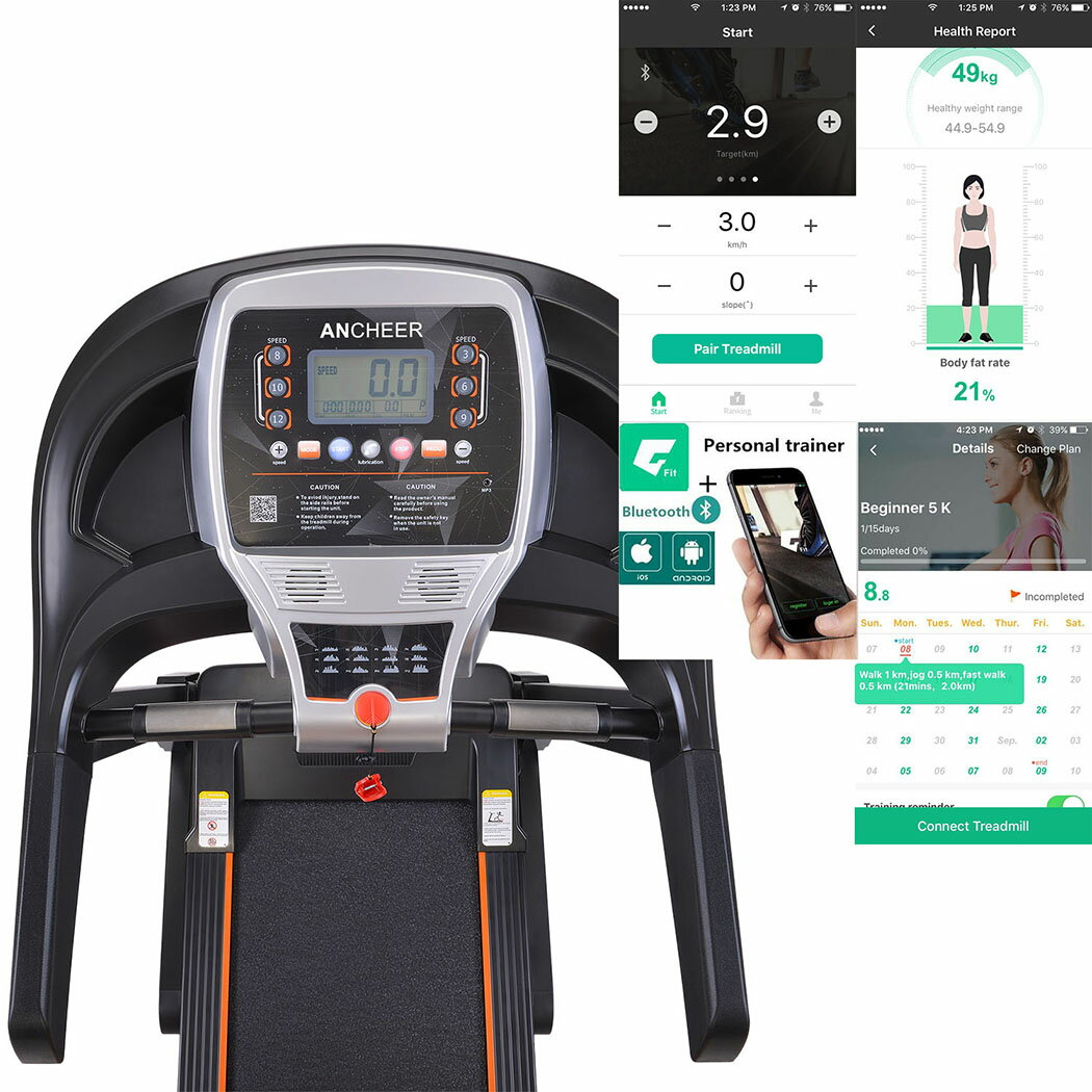2.25hp Treadmill Indoor Commercial Health Fitness Training Equipment 3