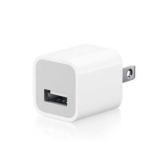【生活家購物網】IPHONE APPLE 蘋果 USB 豆腐頭 5V1A 手機充電座 安規 商檢R37951