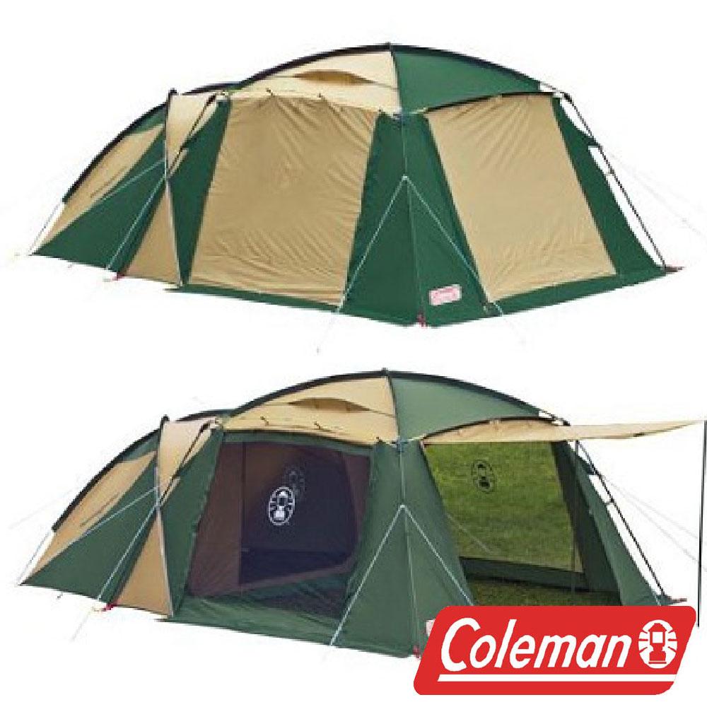 【美國Coleman】4-5人圓頂露營帳 2-ROOM HOUSE CM-1415J 露營 客聽帳 網屋 別墅帳