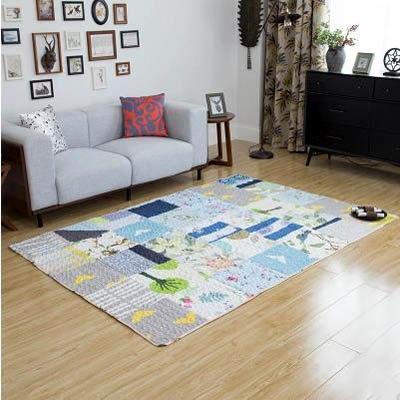 【碎布拼接大地毯-90*150cm-1款/組】臥室客廳茶几飄窗沙發加厚全棉墊子(可定制)-7101013