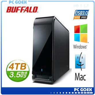 BUFFALO 3.5吋 4TB (7200轉) / USB3.0 外接硬碟 (HD-LX4.0TU3)☆pcgoex軒揚☆
