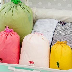 美麗大街【BF170E3E863】SAFEBET旅行衣物整理束口收納袋卡通圖案雜物抽繩袋50個(中號27*32)