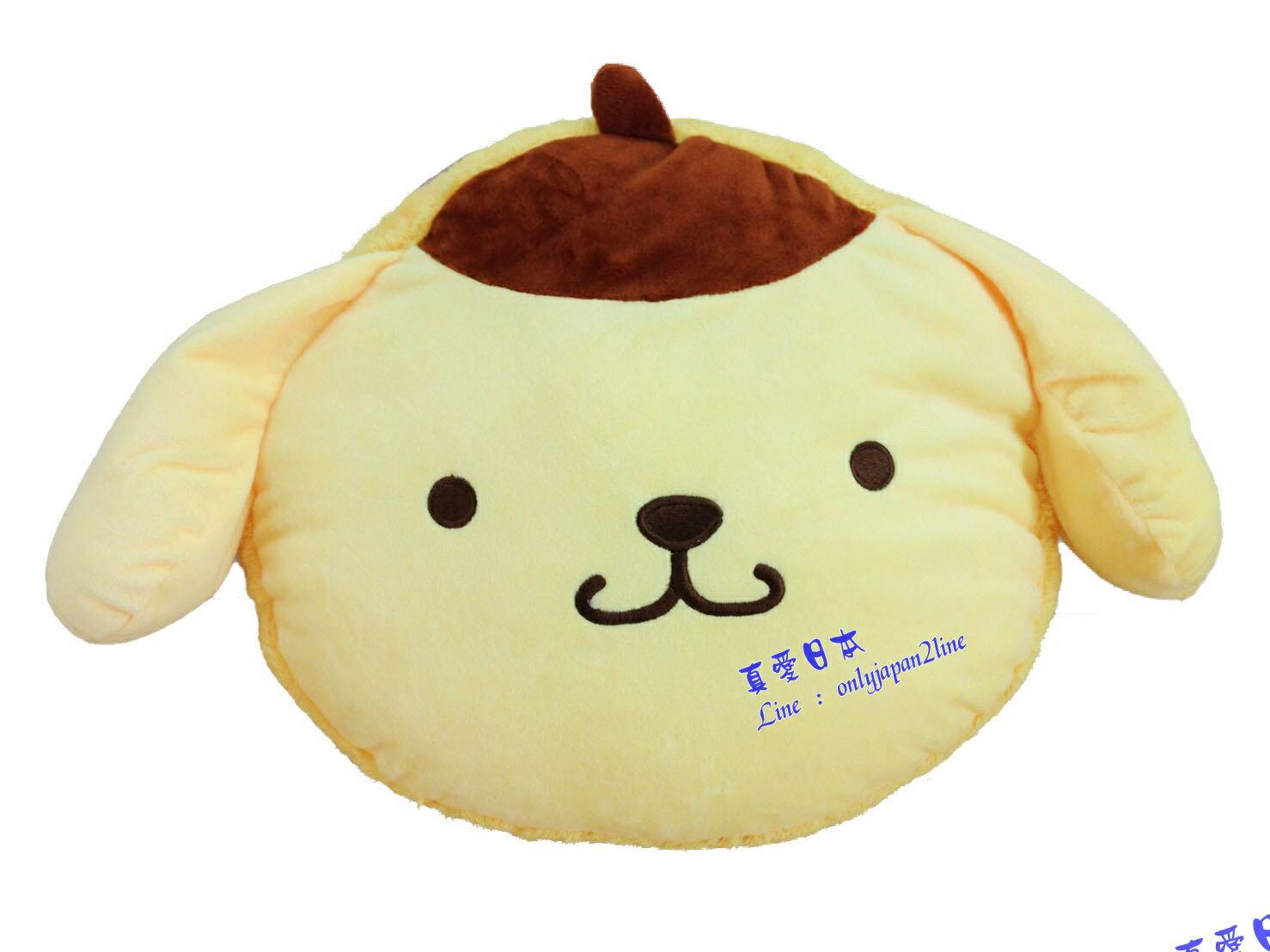 【真愛日本】16071500002  馬卡龍頭型抱枕-布丁狗  三麗鷗家族 布丁狗 娃娃 抱枕  靠枕