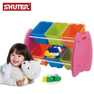 現買現省$190!樹德 EN-HA06 貓頭鷹兒童玩具整理箱 / 居家分類收納箱 ( 6格 )