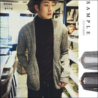 現貨 針織外套【SA14009】韓國製 混色針織無扣開襟罩衫【Sample】-BULLDOG