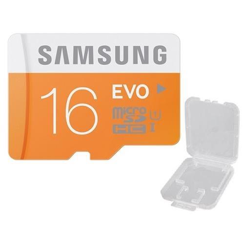 Samsung EVO 16GB microSDHC Class 10 16G microSD micro SD SDHC 48MB/s UHS-I C10 MB-MP16D with Plastic Case 1