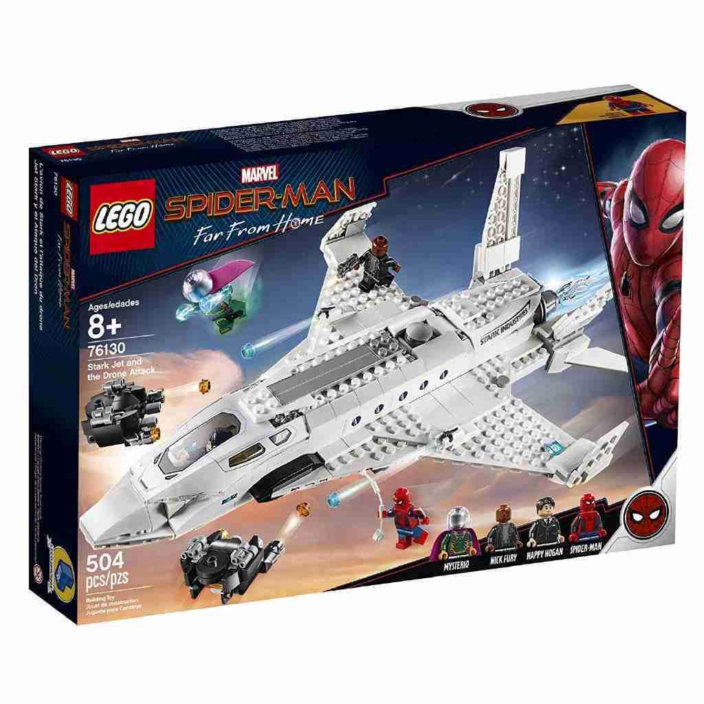 LEGO 樂高 超級英雄 蜘蛛人:離家日 史塔克噴射機和無人機攻擊 76130