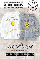 e-zakka 微笑圖樣兒童長袖T恤/CBT-60445-1800461。2色(2052)-日本必買代購/日本樂天-日本樂天直送館-日本商品推薦