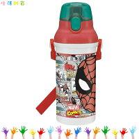 漫威英雄Marvel 周邊商品推薦漫威Marvel 蜘蛛人Spider-Man 彈蓋直飲式水壺 直飲式冷水壺彈蓋水壺 日本進口正版 364259