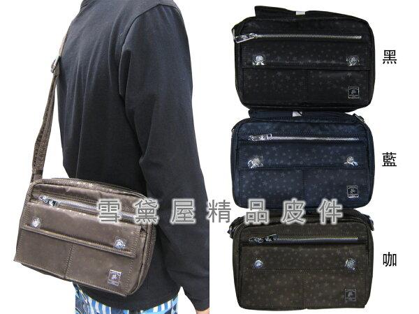~雪黛屋~SANDIA-POLO斜側包小容量二層主袋進口防水尼龍布材質隨身物品中性款可肩背可斜BSP10175P035