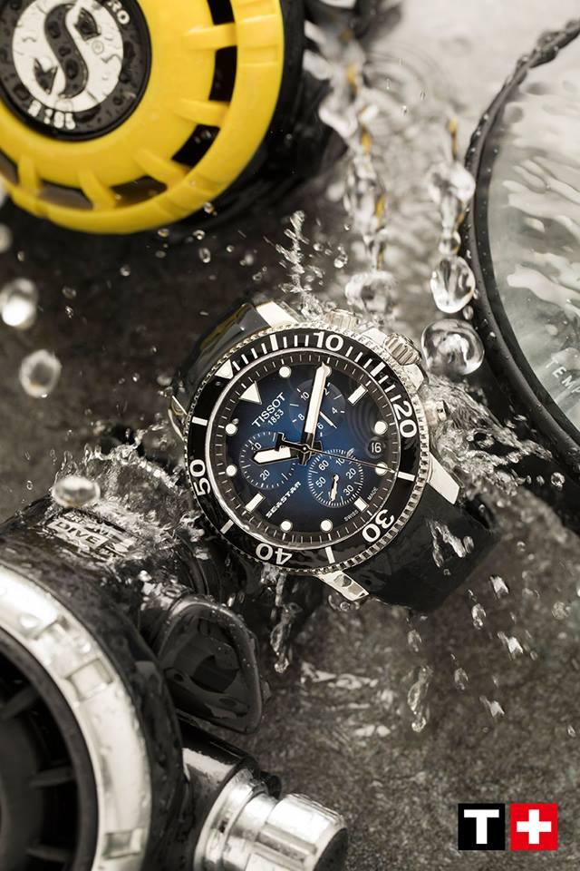 【聖誕節禮物】TISSOT 天梭 T1204171704100 海洋之星 潛水錶 漸層藍 膠帶 45.5mm 1