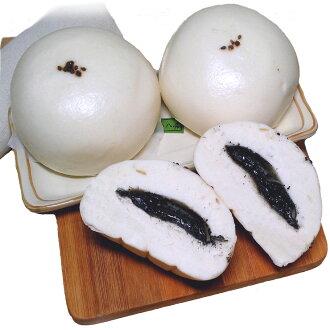 【木子先生老麵養身健康饅頭】白玉芝麻包子 饅頭(奶素)*5超級整袋組