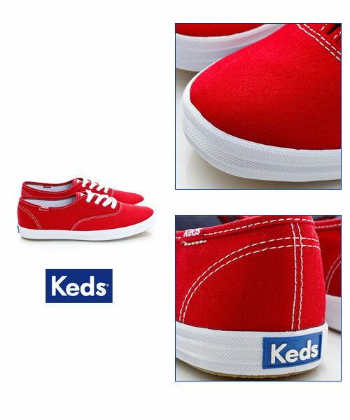 Keds 品牌經典休閒鞋-紅(限量) 套入式│懶人鞋│平底鞋│綁帶 6