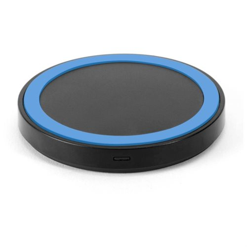 GMYLE Mini Qi Wireless Charger for All Qi Compatible Smartphones - Black / Blue 1