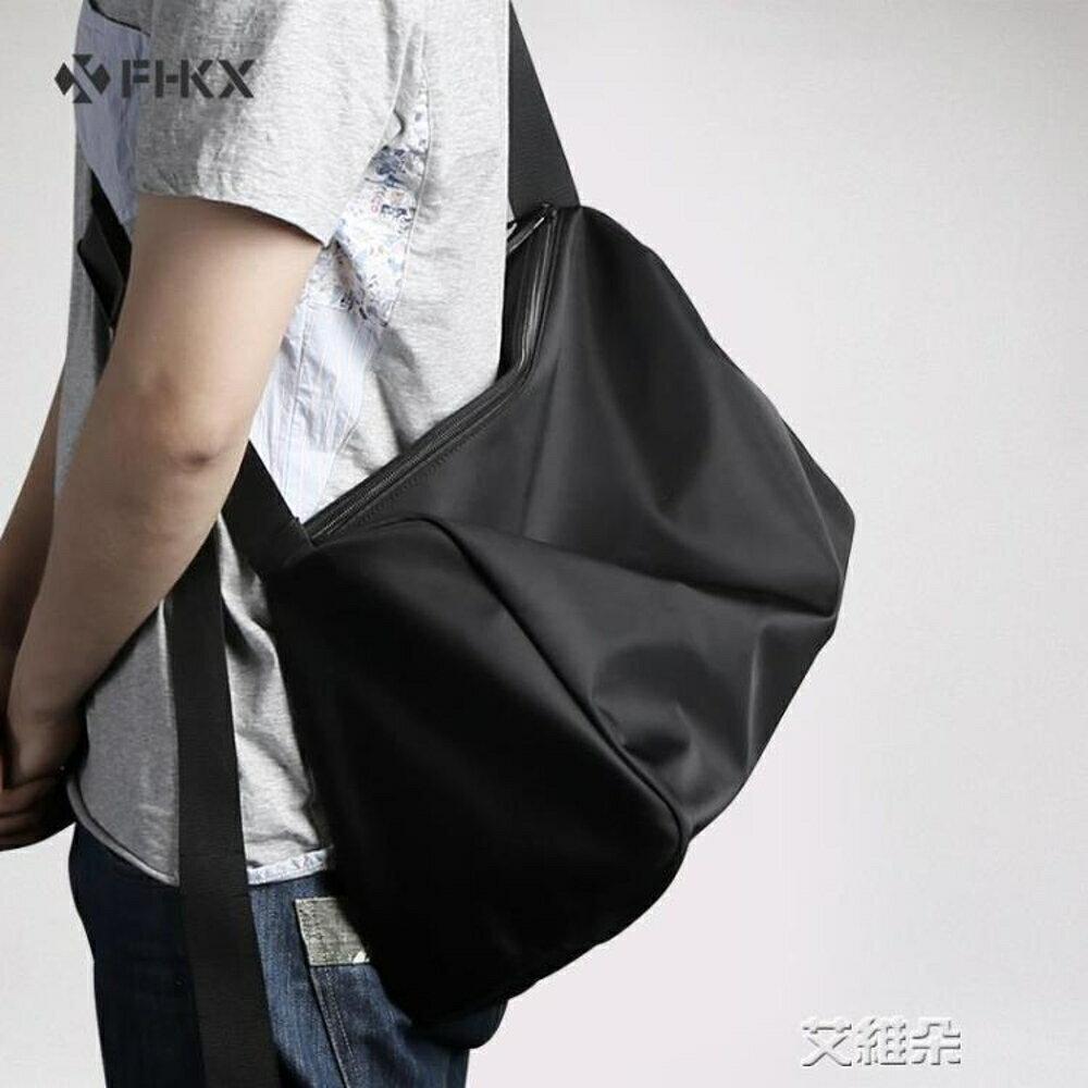 斜背包單肩包男斜背包大容量運動健身包休閒簡約行李包旅行包青年個性潮 清涼一夏钜惠