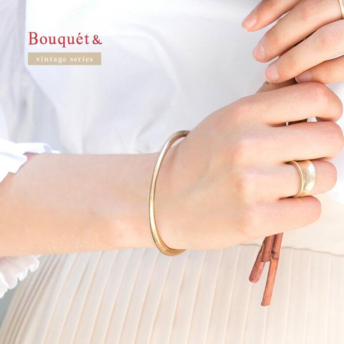 日本CREAM DOT  /  バングル ヴィンテージ メタル レディース ゴールド 金 シルバー 銀 シンプル 上品 ブランド アクセサリー プレゼント 大人 レディース 女性 大人 ジュエリー  /  qc0324  /  日本必買 日本樂天直送(1490) 0