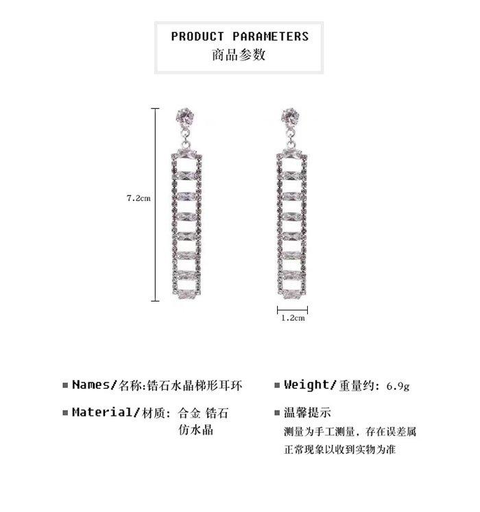 耳環 個性 幾何 拼接 梯形 鏤空 長方形 吊墜 耳釘 耳環【DD1812136】 BOBI  03 / 07 1