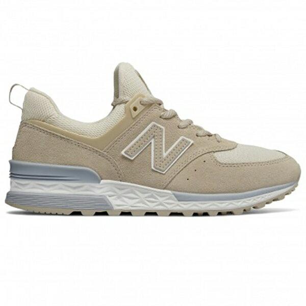 NewBalance574S女鞋慢跑休閒復古麂皮襪套網布卡其【運動世界】WS574SNE