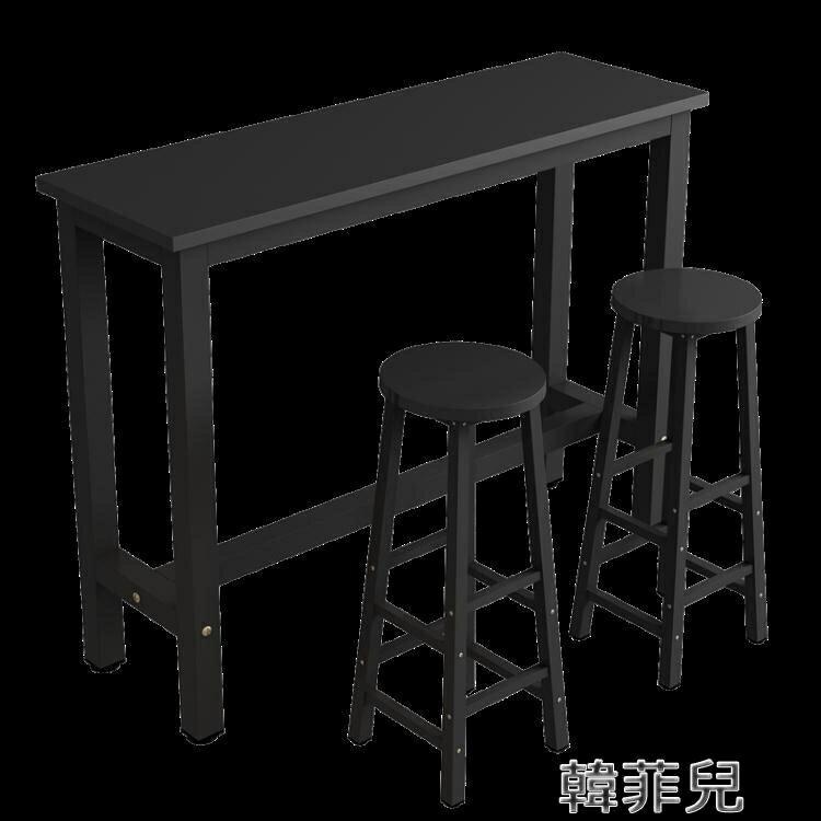 吧檯桌 靠牆吧臺家用隔斷長條高腳桌長方形簡易餐桌奶茶店細長條桌窄桌子 mks