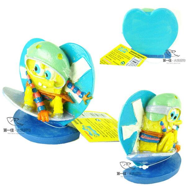 [第一佳水族寵物]美國PENNPLAX卡通飾品系列(授權販售)[海綿寶寶-玩滑板]~~!!免運費!!~~