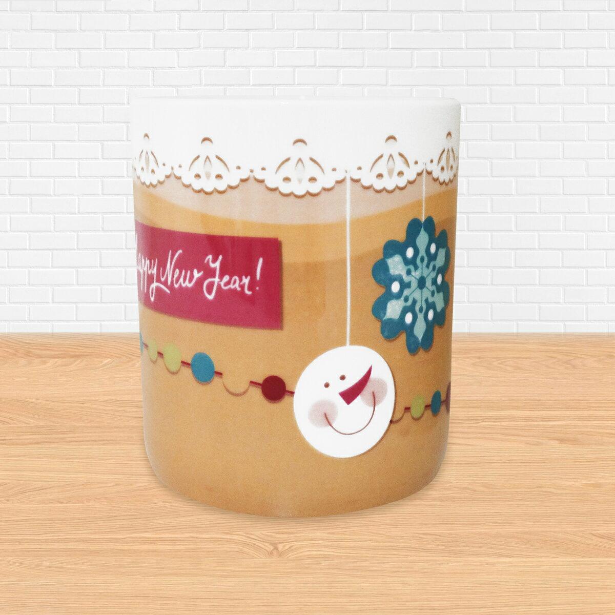 《陶緣彩瓷》雪人聖誕節慶杯-骨瓷馬克杯 / 雪人 / 聖誕節 / 交換禮物 / 可加購客製名字 / 可微波 / 通過SGS