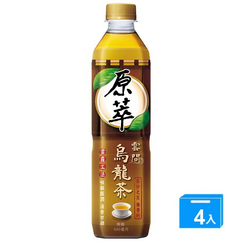 原萃雲間烏龍茶580ml*4【愛買】