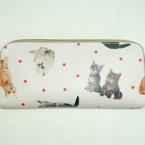 日本寫真貓咪 防水布 長夾 皮夾 錢包