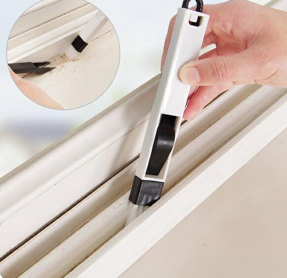 PS Mall 窗戶窗槽凹槽清潔刷 帶簸箕縫隙刷【J1519】 4
