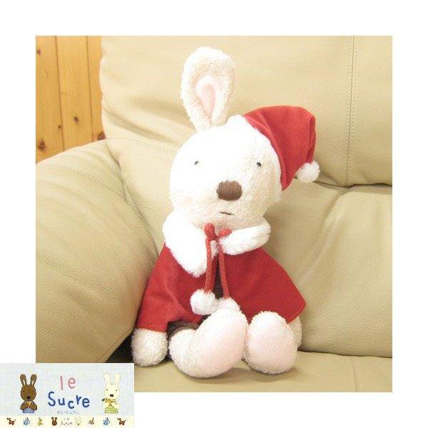 le sucre la creme法國兔* 14112200066 聖誕限定版L-燈心絨咖褲白  娃娃 玩偶 真愛日本