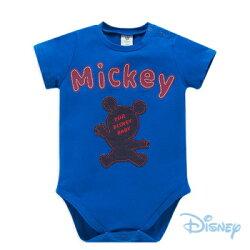Disney Baby 米奇剪影男孩短袖包屁衣