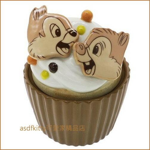 asdfkitty可愛家☆奇奇蒂蒂杯子蛋糕造型陶瓷收納罐/置物罐-日本正版商品