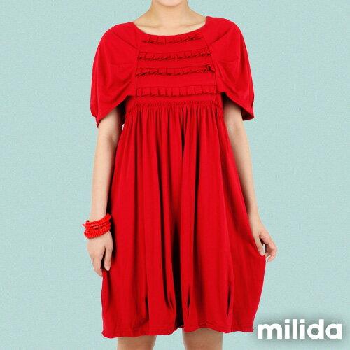【Milida,全店七折免運】-春夏商品-甜美款-公主袖洋裝 6