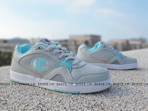 《限時特價990元》Shoestw【611220223】Champion休閒鞋板鞋灰蒂芬妮綠皮革女生