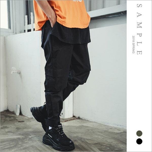 韓國製滑面工作褲魔鬼氈束腳【PL20252】-SAMPLE
