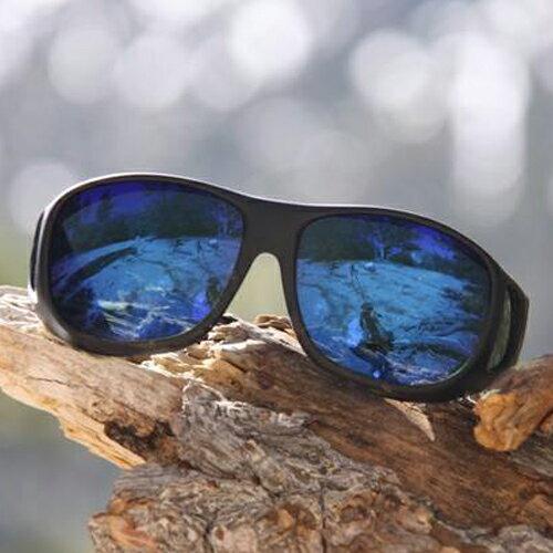 【樂活動】美國COCOONS 專業包覆式偏光太陽眼鏡 (黑框/綠鍍膜琥珀鏡片)