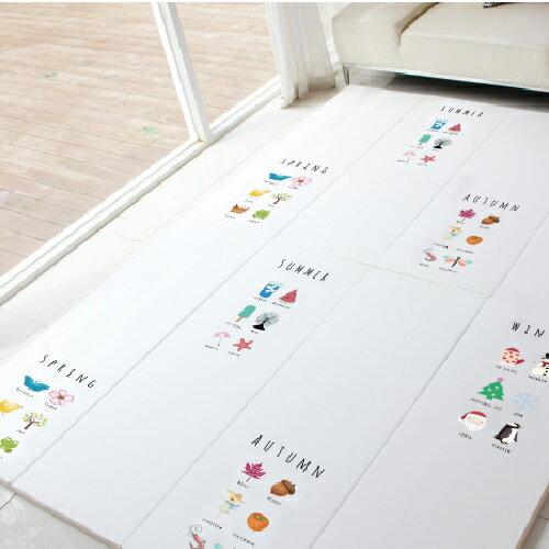 韓國 【FoldaWay】4cm特厚遊戲地墊(塗鴉款-四季生活)(200x140x4cm) 1