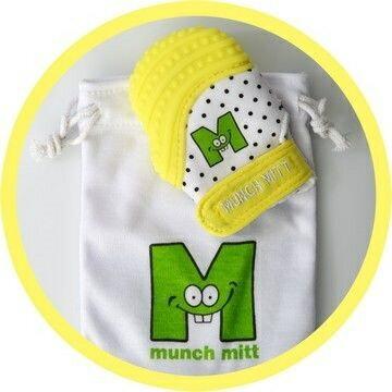 美國【Munch Mitt】手咬樂手套固齒器 (黃色) 2~5個月使用 0