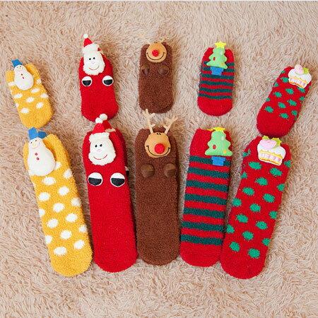 聖誕 珊瑚絨保暖襪 襪子 毛襪 聖誕襪 保暖襪 毛巾襪 加厚 珊瑚絨 親子襪  聖誕 ~B