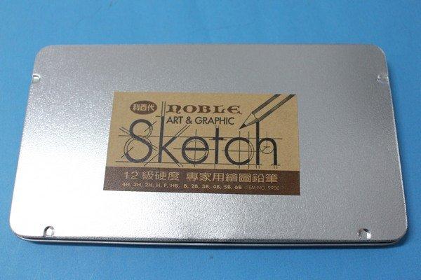 利百代NO.9900 12入素描鉛筆 12級硬度專家用繪圖(原木)/一小盒入{定120}