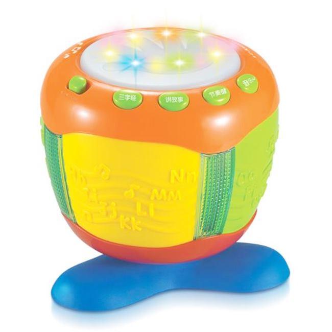 小小鼓王 拍拍鼓 爵士鼓 打鼓玩具 兒童鼓 有七彩聲光效果 音樂拍拍鼓 故事機 節奏【塔克】
