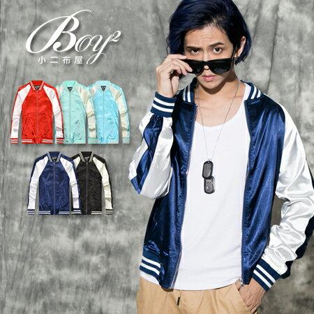 ☆BOY-2☆【PPK88027】韓版街頭緞面質感棒球外套 1