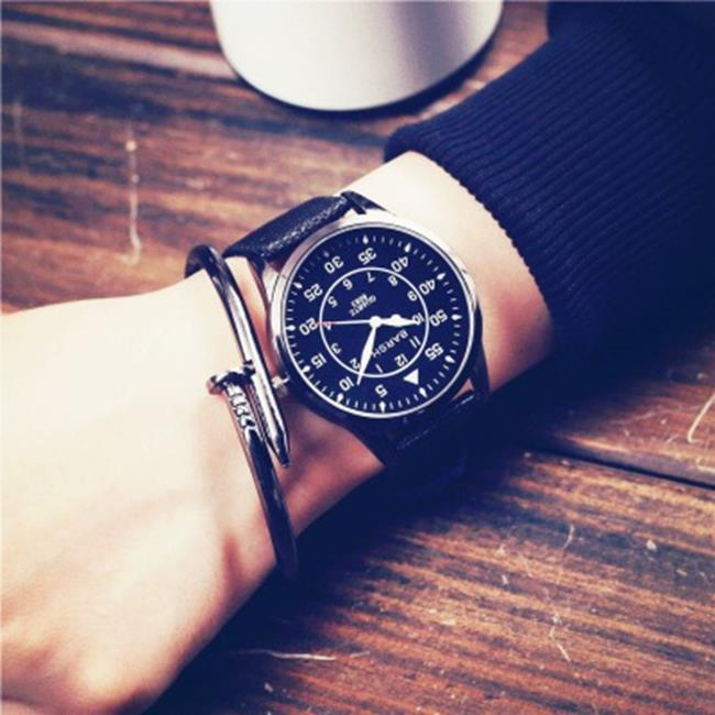 50%OFF【H019055WAH】權志龍bigbang余文樂GD同款手錶男學生韓版簡約潮女歐美復古潮表