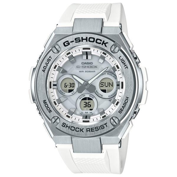 CASIOG-SHOCKGST-S310-7A絕對強悍雙層結構雙顯太陽能腕錶50mm