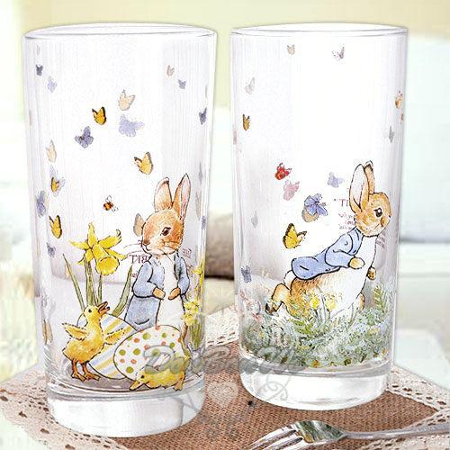 彼得兔玻杯子玻璃杯420ML蝴蝶結多圖209280海渡