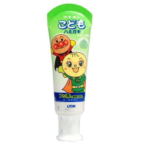 ★衛立兒生活館★麵包超人 幼兒牙膏 40g(哈密瓜味)日本製