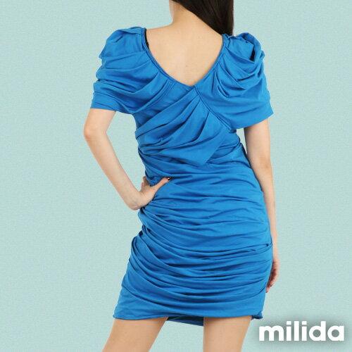 【Milida,全店七折免運】-夏季洋裝-造型款-甜美公主袖設計 9