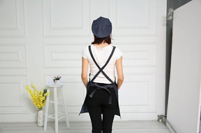 牛仔布口袋圍裙61X69cm(藍) [大買家] 4