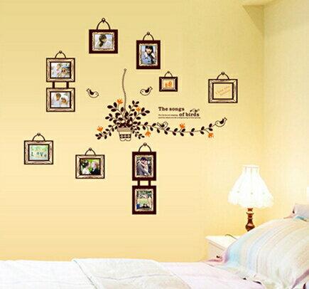 歐式浪漫相框臥室牆壁客廳餐廳書房裝飾可移除相片牆貼 ~no~520648675625~