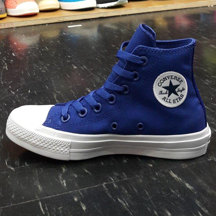 <br/><br/>  Converse Chuck Taylor All Star II 2代 高筒 藍色 寶藍色 帆布 LUNARLON 鞋墊 150146C<br/><br/>
